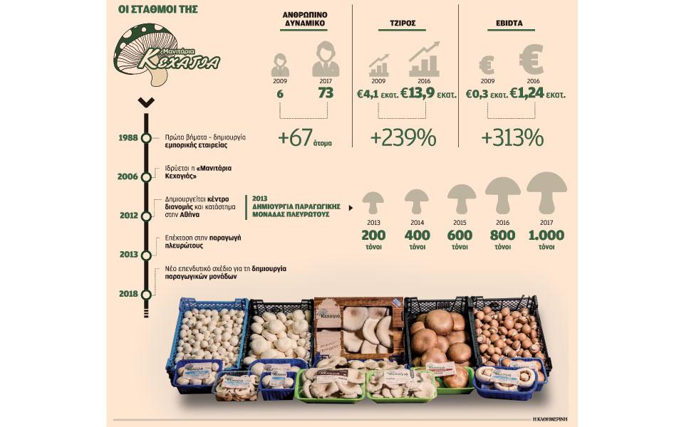 Από εισαγωγέας μανιταριών, παραγωγός και εξαγωγέας